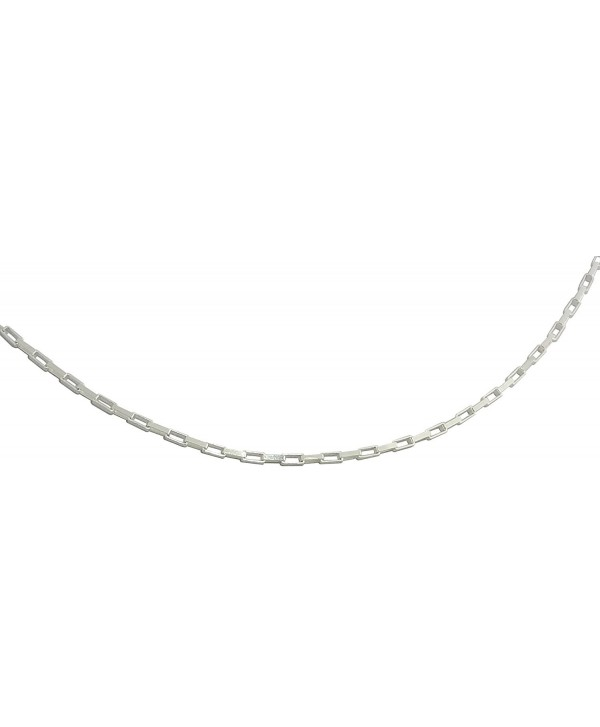 Solid Sterling Silver 925 Stamped Square Link Design Chain 18 Inches - CI12GW054NV