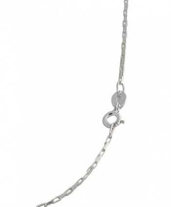 Sterling Silver Stamped Square Design in Women's Chain Necklaces
