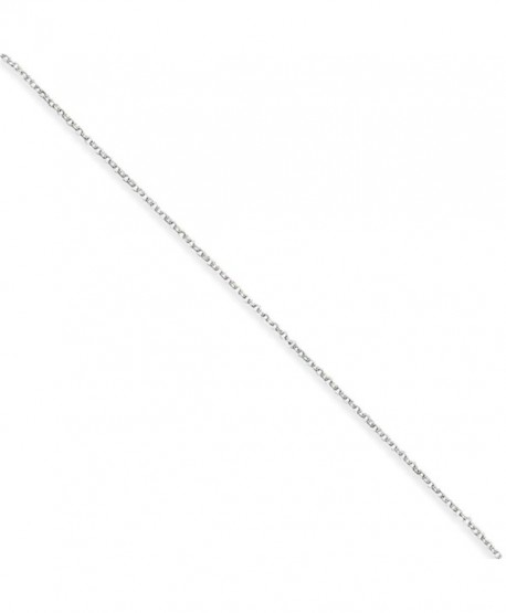 1mm Sterling Silver- Cable Chain Necklace- 20 Inch - C111478I89D