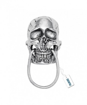 SENFAI Unique Skull Bite Ring Magnetic Brooch Eyeglass holder - CL17YTEQU6Y
