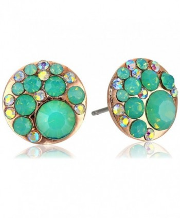 Betsey Johnson Womens Blue & Rose Gold Boost Crystal Stud Earrings - Blue/Rose Gold - CA11ECM8D0X