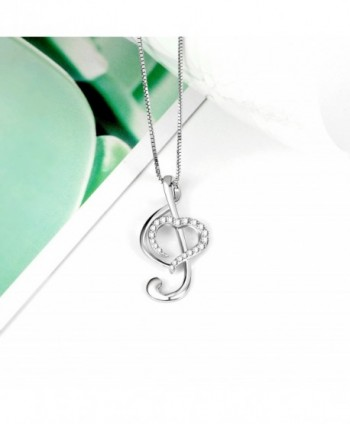 Sterling Silver Music Necklace Pendant in Women's Pendants