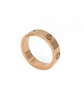 Teresa Carranco Shine Celebrity Love Rose Gold-Plated Band Ring for Women (size:10) - CI189R0U2WW