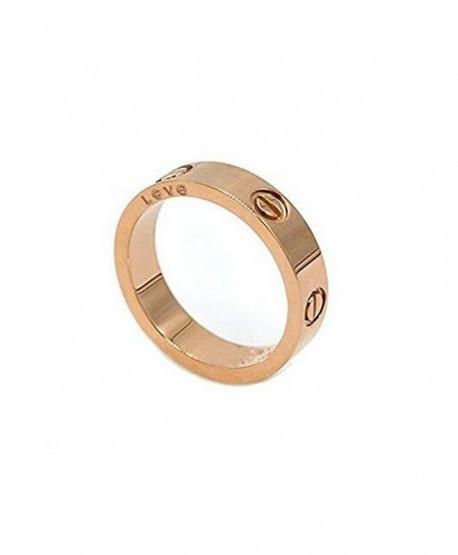 Teresa Carranco Shine Celebrity Love Rose Gold-Plated Band Ring for Women (size:10) - CI189R0U2WW