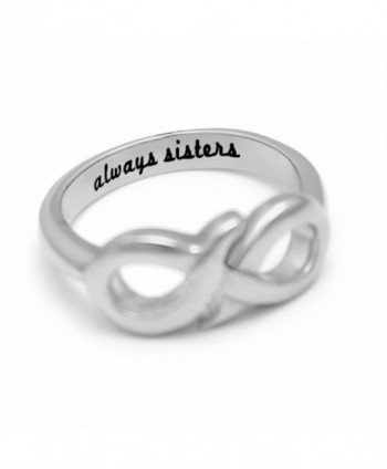 "Sisters Ring- Infinity Ring- Promise Ring for Sister ""Always Sisters"" Engraved on Inside - CL11GUQ9CU9"