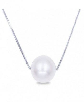 "Swhite Sterling Freshwater Cultured Pearl Pendant Necklace - ""		 	 Single	 	"" - CS12H3Z7DX3"