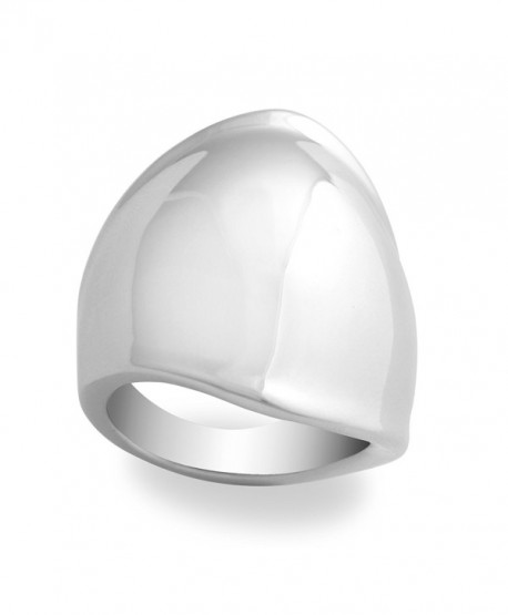 JanKuo Jewelry Large Shining Polished Finish Fashion Ring with Gift Box - CB1158F9XYX