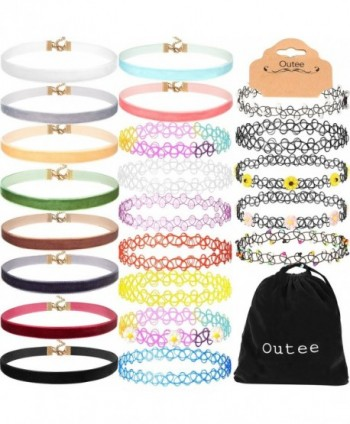 Outee Womens Choker Necklace Necklaces - C5182ICYD8K