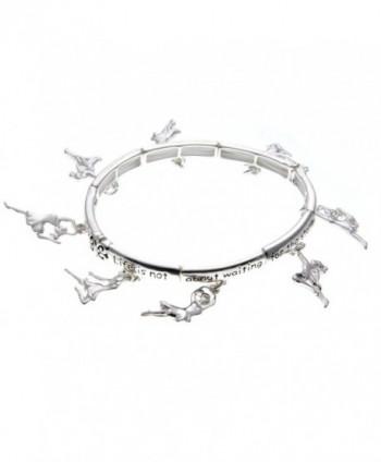 PammyJ Silvertone Inspirational Stretch Bracelet