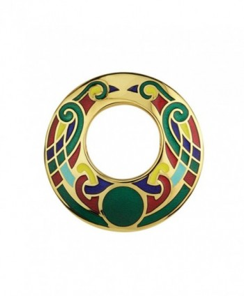 Open Celtic Brooch Large Gold Plated & Multiple Colors Irish Made - CP118NB0N11