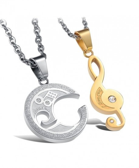 Sobly Stainless Engraved Necklace Valentine - CW12BCT8CCR