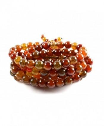Amandastone Handmade Semi-precious Stone Dragon Agate 108pcs Prayer Beads Bracelet - Dragon Agate - CR12H2GGJD3
