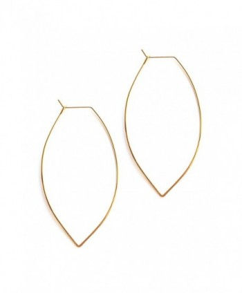April Soderstrom Featherweight Large Leaf Hoop Earrings - CZ183D3ZCOC