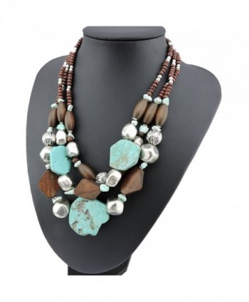 Personalized Layered Turquoise Statement Necklace in Women's Collar Necklaces