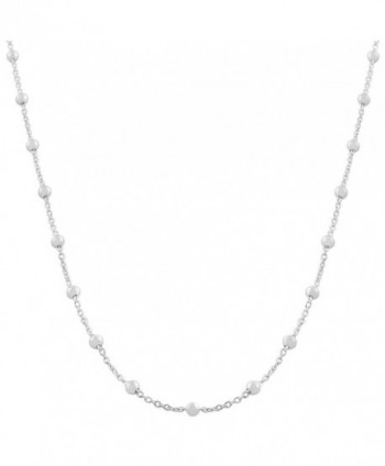 Sterling Silver 1.3-mm Beads on Cable Chain Saturn Necklace (36 Inch) - CN118NFDEE5