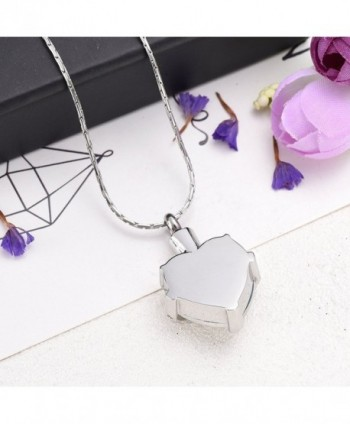 Crystal Necklace Stainless Cremation Memorial in Women's Pendants