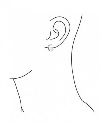 Bling Jewelry Simulated Sterling Earrings in Women's Hoop Earrings
