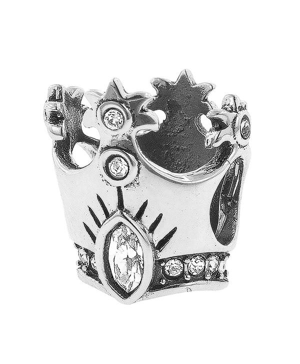 Sterling Silver Wizard of Oz Crystal Glinda's Crystal Crown Bead - CG1217KQ52P