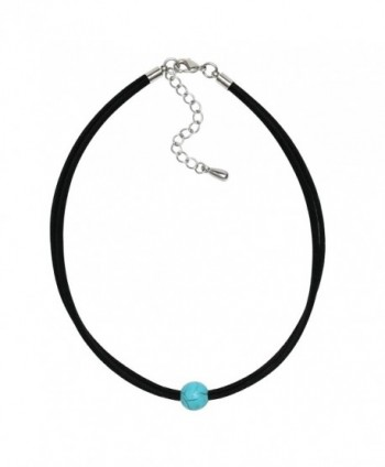 Natural Turquoise Necklace Handmade Bracelet in Women's Choker Necklaces