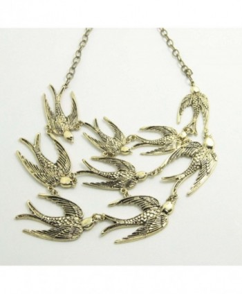 Vintage Anthropologie Swallow Necklace Statement
