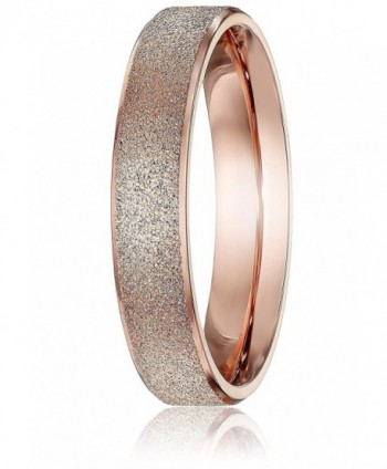 Fashion Jewelry Brand Women's Titanium Rose Gold Wedding Engagement Band Ring - CV12ITVLJJT