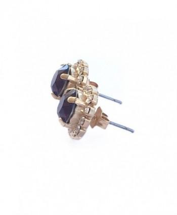 Swarovski Crystal Earring Burgundy gold plated base