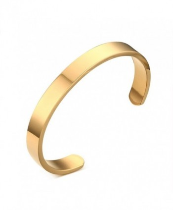ZUOBAO Remember Engraved Stainless Bracelet - Polished-Gold - CB12JE22CHF
