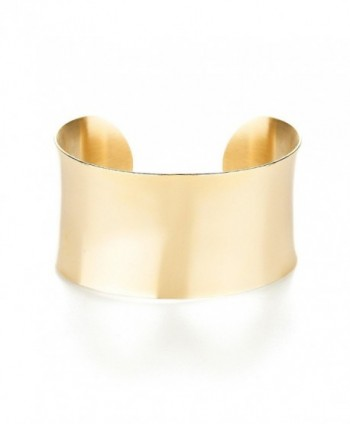 Gold Plated Stainless Steel Fashion Cuff Bracelet - CL112KU8J35