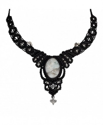 Handmade Necklace Moonstone SPUNKYsoul Collection - C6188LGGSMC
