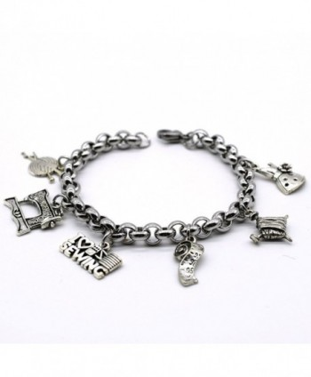 Stainless Charms Bracelet Handmade ML02 in Women's Charms & Charm Bracelets
