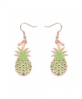 SENFAI Cute Pineapple Hoop Earrings Simple Fun Fruit Earrings Punk Hip Hop Night Club Jewelry Accessories - CY12G5QDIHV