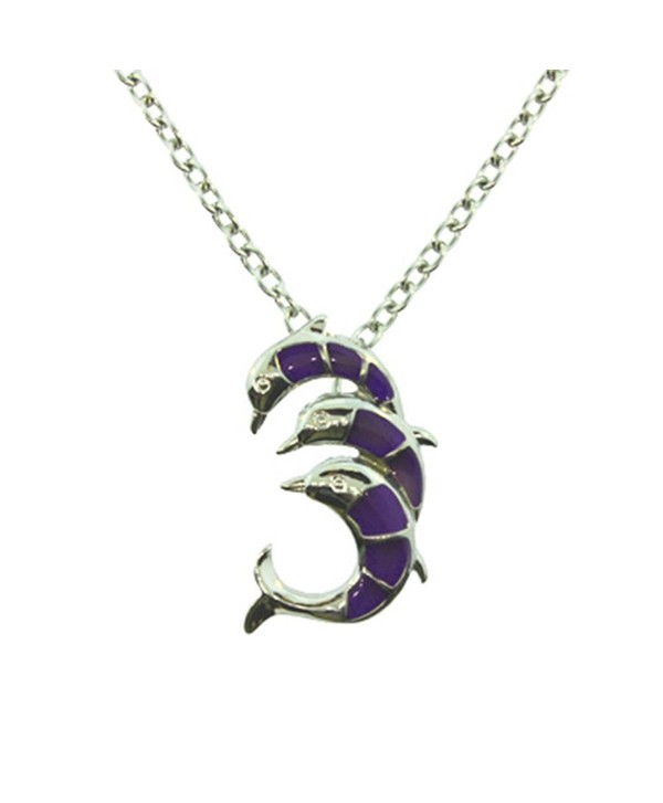 Simplicity Dolphins Mood Pendant Necklace w/ Adjustable Chain - CG11DMP85ZT
