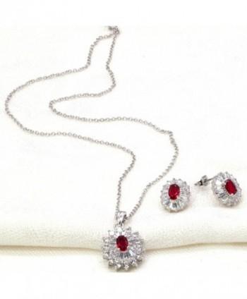 Luxury Jewelry Necklace Earrings Zirconia
