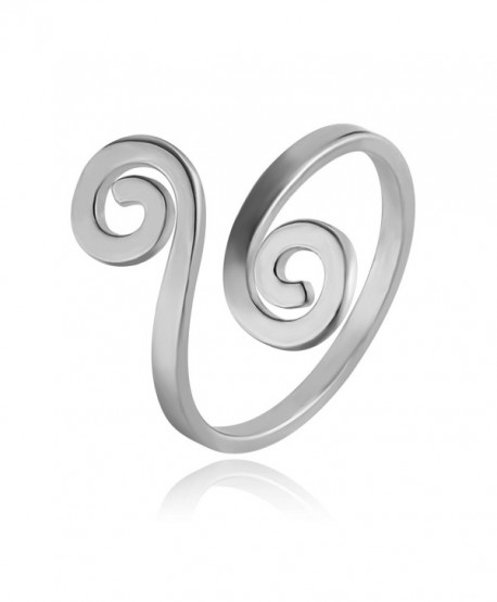 CHUANGYUN Innovative Auspicious Clouds Wrap Stackable Ring Open Ring Adjustable Ring Men&Women - silver - CG1827OZ584