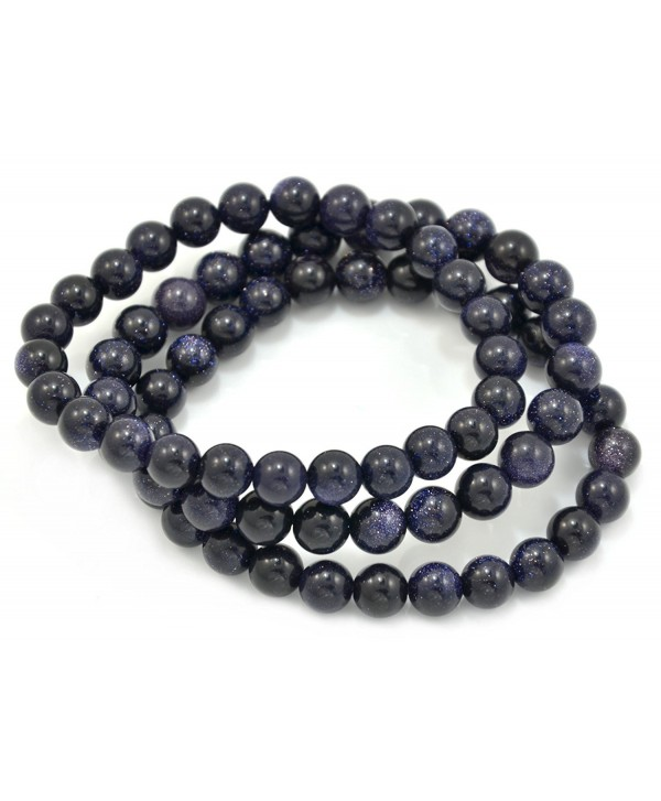 Paialco Blue Goldstone Stretch Beaded Bracelet- Pack of 3 - CH11A1CCAOL