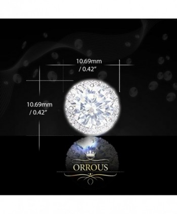 ORROUS CO Collection Zirconia Earrings - 18k White Gold Plated - C211U3GJ5M7