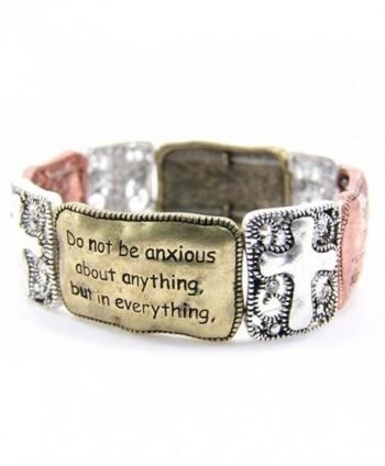 4030036 Christian Scripture Religious Bracelet Philippians 4:6-7 - C1115THASYD