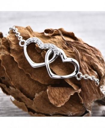 Bracelet YL Sterling Adjustable Bracelet Girls Valentines in Women's Link Bracelets
