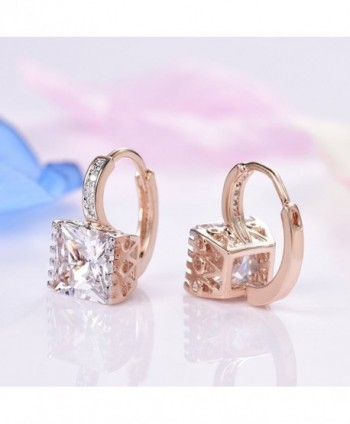 GULICX Zircon Sparkle Crystal Earrings in Women's Hoop Earrings