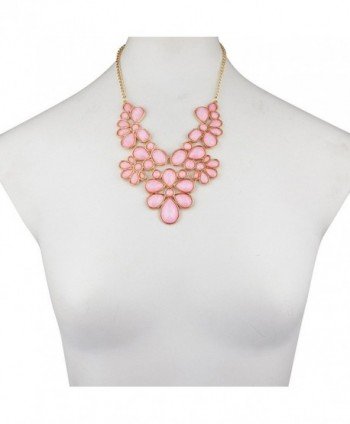 Lux Accessories Floral Statement necklace