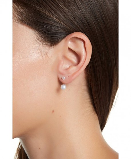 Sterling Silver and Freshwater Pearl Earring Jacket - CY187D9W0OO
