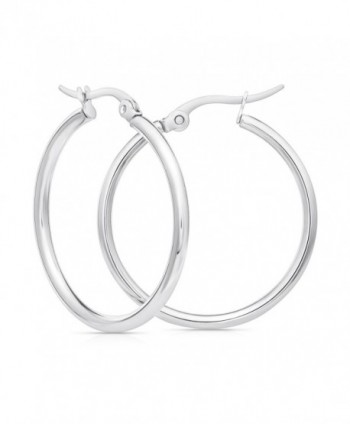 Stainless Steel Hoop Earrings 30mm