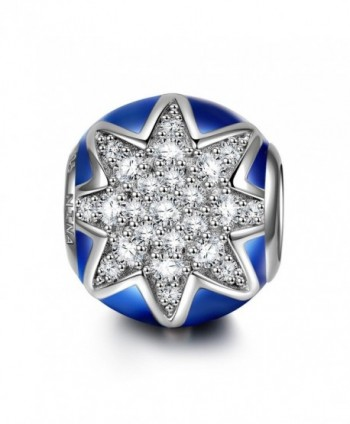 "NinaQueen ""Twinkle Star"" 925 Sterling Silver Gemstone Dark Blue Bead Charms - C712NTWNDCB"