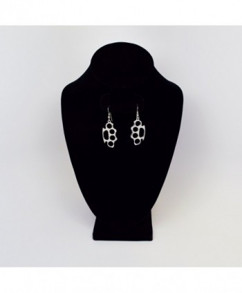 Knuckles Polished Silver Finish Earrings