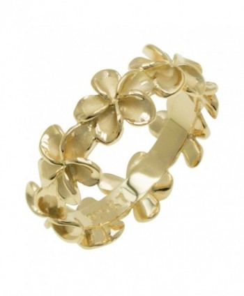 Plumeria Eternity Ring with14K Yellow Gold Finish - 8mm - CT1175SBRU9