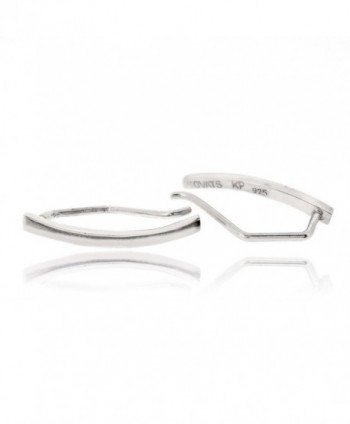 Sovats Curved Earring Sterling Rhodium - CD12CL85V3L