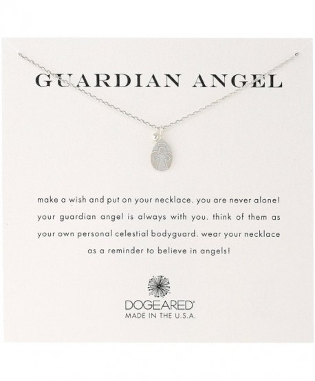 Dogeared 'Guardian Angel' Charm Bead Sterling Silver Chain Necklace - C9187GXMMLM