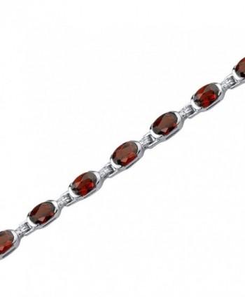 9.00 Carats Garnet Bracelet Sterling Silver Oval Shape - C21141DWWEB