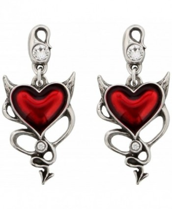 Devil Heart Pair of Earrings by Alchemy UL17 - CB11PCTX6H5