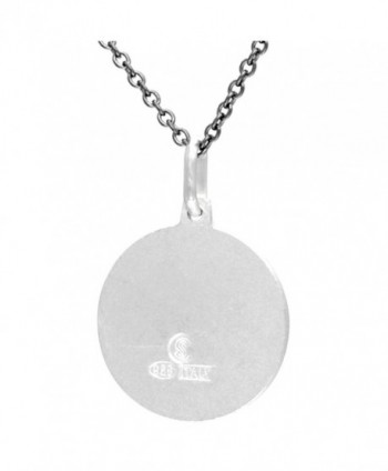 Sterling Silver Michael Medal Necklace